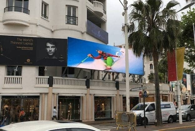 Outdoor LED billboard